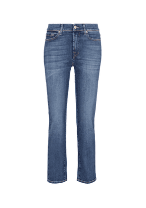 The Straight Crop mid-rise jeans