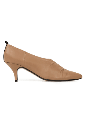 Joseph Ruched Leather Pumps Woman Sand Size 37