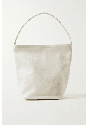 The Row - N/s Park Leather-trimmed Canvas Tote - Ivory