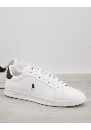 Polo Ralph Lauren canvas trainer in white with pony logo