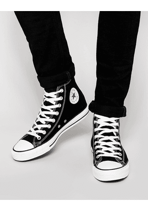 Converse All Star Hi plimsolls in black m9160c