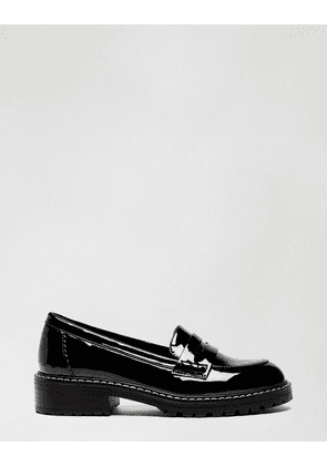 Miss Selfridge chunky loafers in black