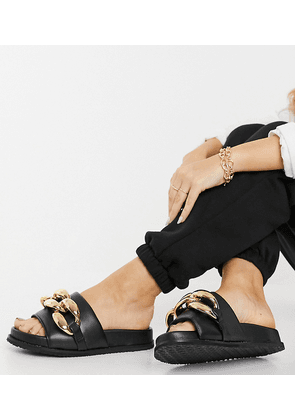 Z_Code_Z Exclusive Mimi slider sandals with chunky chain in black