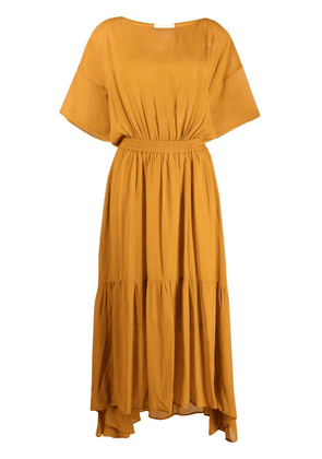 8pm tiered fitted-waist dress - Yellow