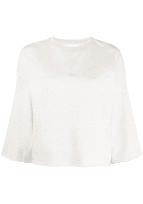 8pm cropped-sleeve top - Neutrals