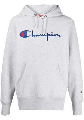 Champion embroidered logo hoodie - Grey