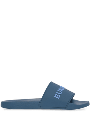 Burberry logo-print slip-on slides - Blue