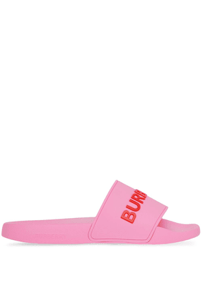 Burberry logo-detail slip-on slides - Pink