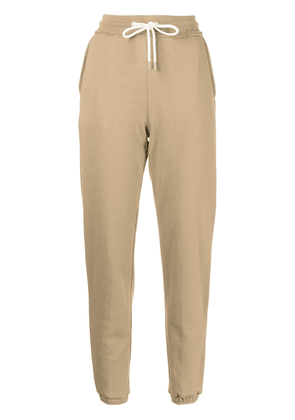 Atm Anthony Thomas Melillo unfinished-effect track pants - Brown