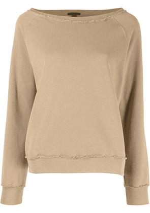 Atm Anthony Thomas Melillo unfinished-effect sweatshirt - Brown