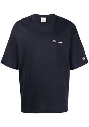 Champion embroidered logo T-shirt - Blue