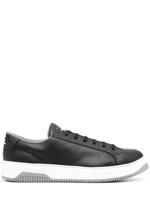 Car Shoe soft leather low-top sneakers - Black
