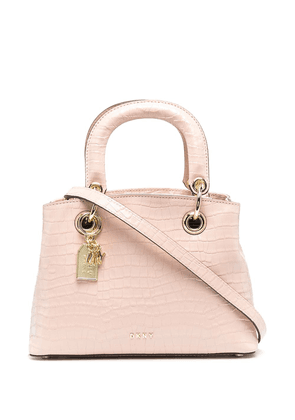 DKNY embossed-leather tote bag - Pink