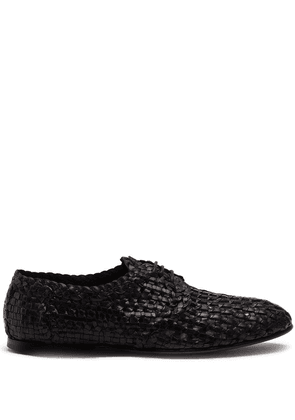 Dolce & Gabbana woven derby shoes - Black