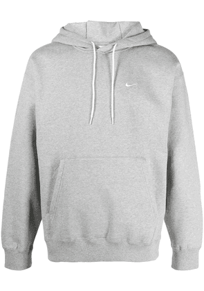 Nike Swoosh-embroidered drawstring hoodie - Grey