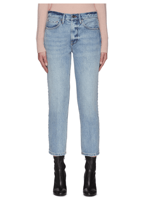 'Le Piper' studded outseam straight jeans