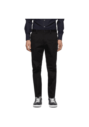 Dolce and Gabbana Black Cotton Twill Trousers