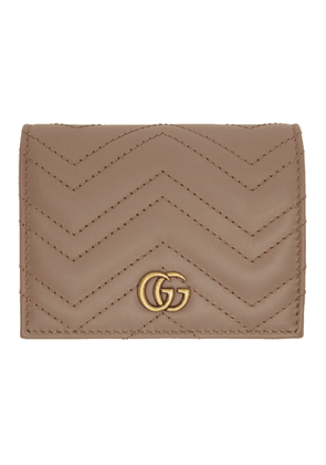 Gucci Pink GG Marmont Card Case Wallet