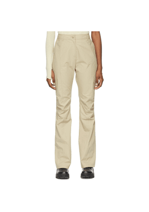 Hyein Seo SSENSE Exclusive Beige Boot Cut Trousers