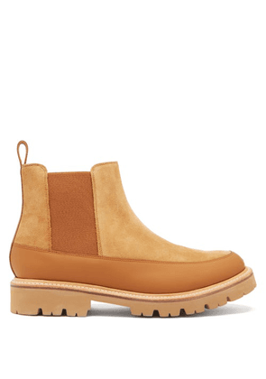 Grenson - Abner Leather-trimmed Suede Chelsea Boots - Mens - Tan