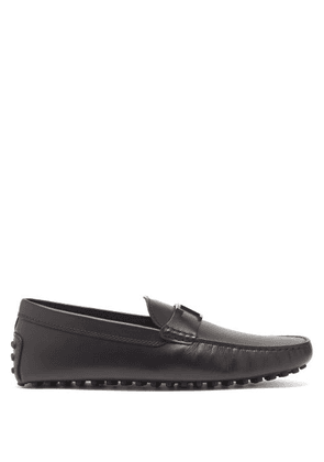 Tod's - Benson T-logo Leather Loafers - Mens - Black