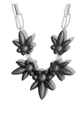 Isabel Marant - Floral Chain Necklace - Womens - Black