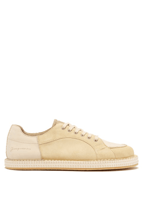 Jacquemus - Panelled Crepe-sole Nubuck And Leather Trainers - Mens - Light Brown