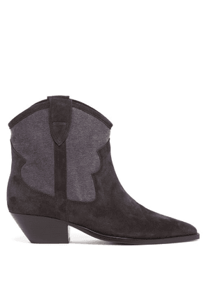 Isabel Marant - Demar Suede Ankle Boots - Womens - Black