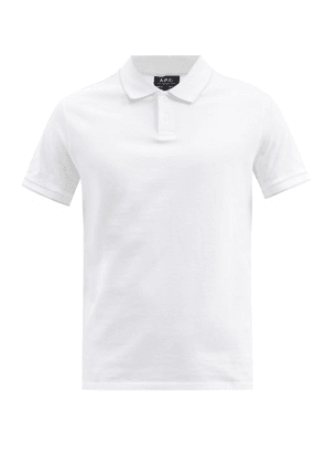 A.P.C. - Max Trimmed Cotton Polo Shirt - Mens - White