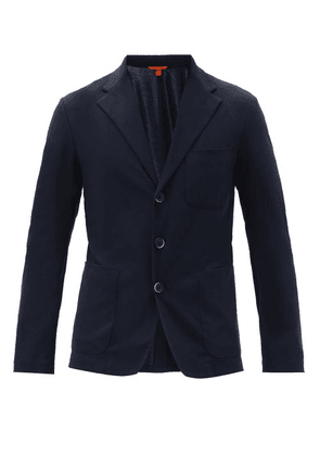 Barena Venezia - Patch-pocket Cotton-jersey Blazer - Mens - Navy