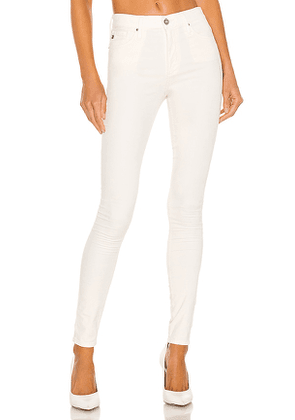 AG Adriano Goldschmied Farrah Skinny in Ivory. Size 24, 25, 27, 30.