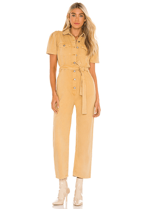 Boyish The Vincent Jumpsuit in Yellow. Size M, S, XS.