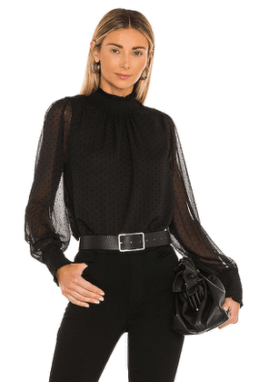 Sanctuary Carrie Smocked Top in Black. Size S.