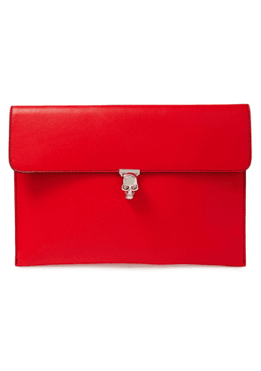 Alexander Mcqueen Embellished Textured-leather Envelope Clutch Woman Red Size --