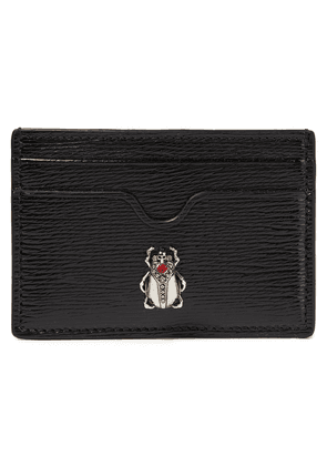 Alexander Mcqueen Embellished Textured Patent-leather Cardholder Woman Black Size --