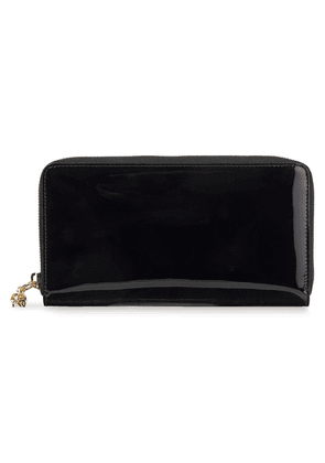 Alexander Mcqueen Patent-leather Continental Wallet Woman Black Size --