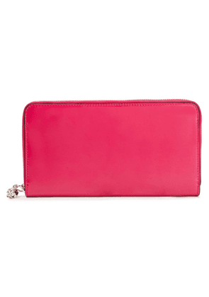Alexander Mcqueen Patent-leather Wallet Woman Fuchsia Size --