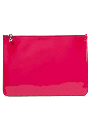 Alexander Mcqueen Patent-leather Pouch Woman Fuchsia Size --