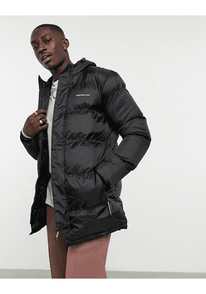 Good For Nothing longline puffer jacket in black