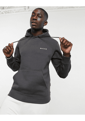 Nicce hoodie with chest logo in charcoal-Grey