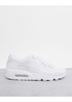 Nike Air Max 90 Recraft trainers in triple white