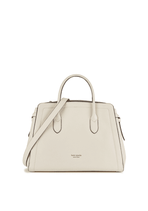 Kate Spade New York Knott XL Off-white Leather Shoulder Bag