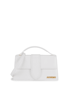 Jacquemus Le Grande Bambino White Leather Top Handle Bag