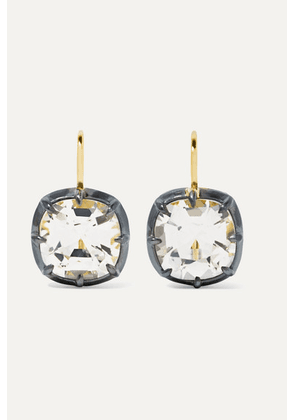 Fred Leighton - Collection 18-karat Gold, Silver-plated And Topaz Earrings