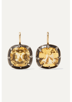 Fred Leighton - Collection 18-karat Gold, Silver And Citrine Earrings