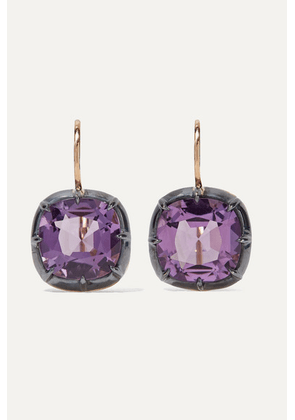 Fred Leighton - Collection 18-karat Gold Amethyst Earrings
