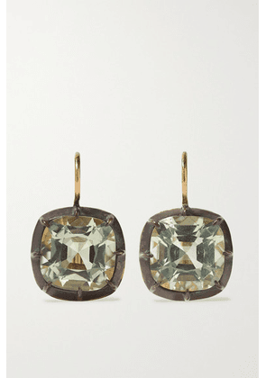 Fred Leighton - Collection Silver-topped 18-karat Gold Quartz Earrings