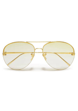 Linda Farrow Aviator-style Gold-tone Sunglasses Woman Gold Size --