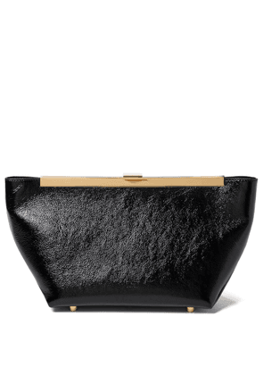 Aimee patent leather clutch