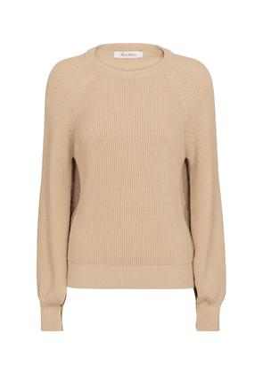 Pepato ribbed-knit cotton-blend sweater